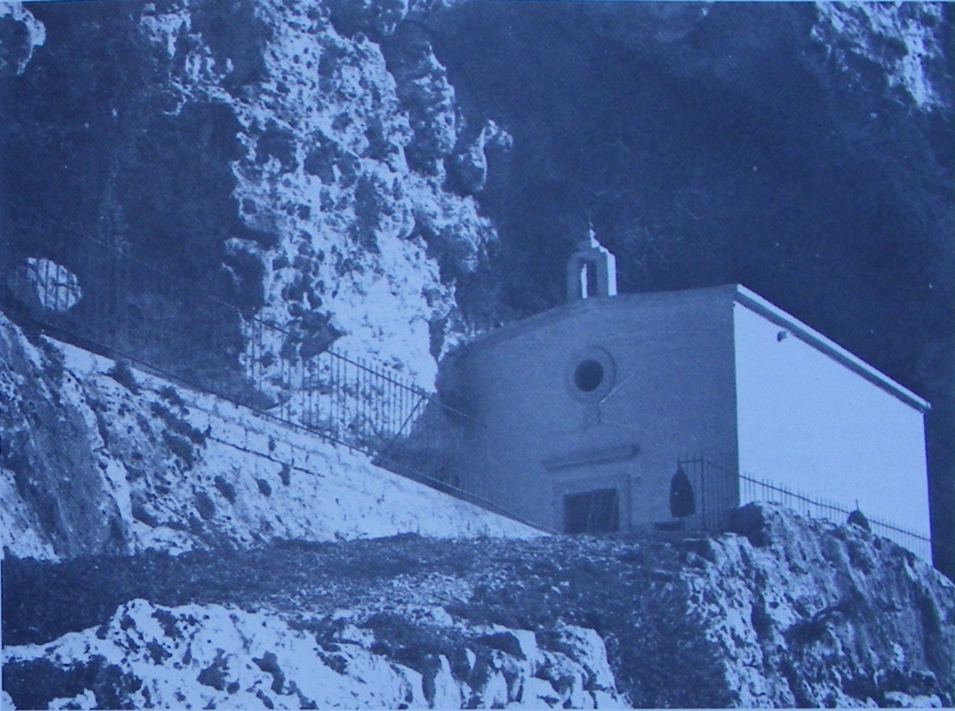 Church of St. Paul the Hermit from across the valley