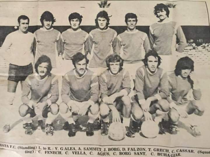 It-team tal-football tal-Mosta fl-1972